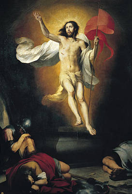 Resurrection Painting - Resurrection Of The Lord by Bartolome Esteban Murillo
