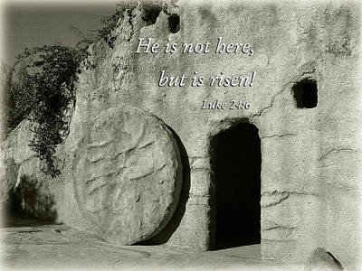 Photograph - Resurrection Tomb In Black And White by Jill Lang