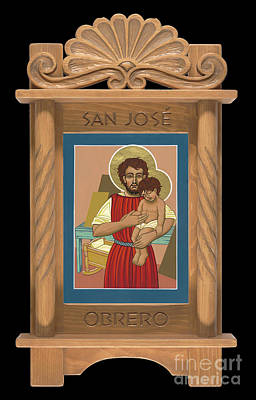 Painting - Retablo De San Jose Obrero by William Hart McNichols