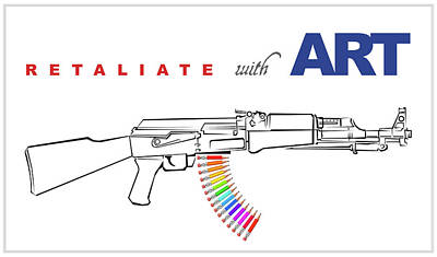 Ak-47 Digital Art - Retaliate With Art by Tom Kostro