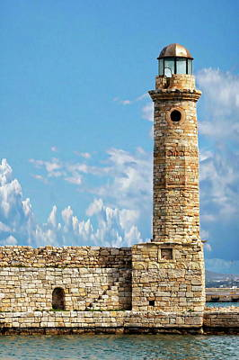Photograph - Rethymno Egyptian Lightouse by Anthony Dezenzio