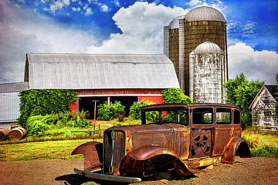 Photograph - Retired At The Farm by Debra and Dave Vanderlaan