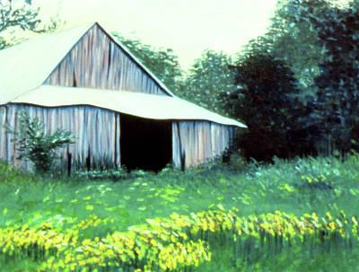 Drawing - Retired Barn by Ceilon Aspensen
