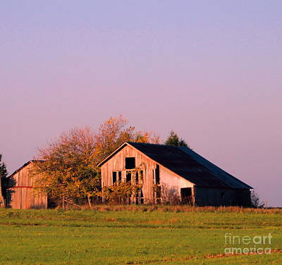 Haybarn Photograph - Retired Barns by Tammy Miller