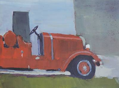 Old Fire Trucks Painting - Retired by Bill Tomsa