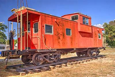 Retired Co Caboose Art Print by Paul Lindner