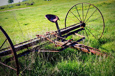 Antique Hay Rake Photograph - Retired by Cricket Hackmann