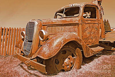 Retired Ford Truck Art Print by Rich Walter