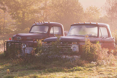 Photograph - Retired Ford Trucks Keepsakes by Cora Ahearn