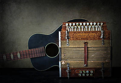 Photograph - Retired Guitar And Accordian by David and Carol Kelly