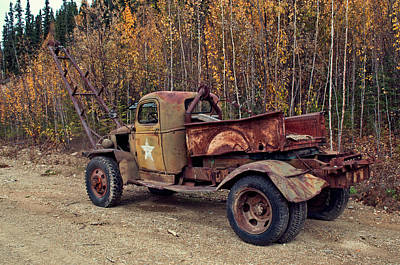 Photograph - Retired Military Truck 2 by Cathy Mahnke