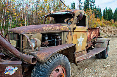 Photograph - Retired Military Truck 3 by Cathy Mahnke