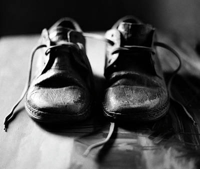 Retired Old Shoes Art Print