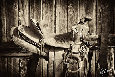 Retired Saddle Art Print