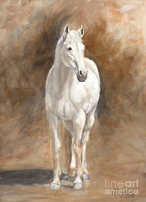 Painting - Retired Thoroughbred Race Horse Rustic by Amy Reges