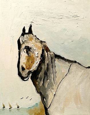 Horse Painting - Retired To Pasture by Jacabo Navarro