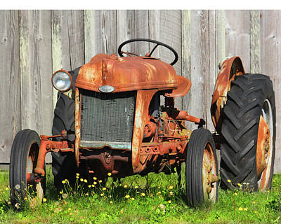 Wall Art - Photograph - Retired Tractor by Diana Marcoux