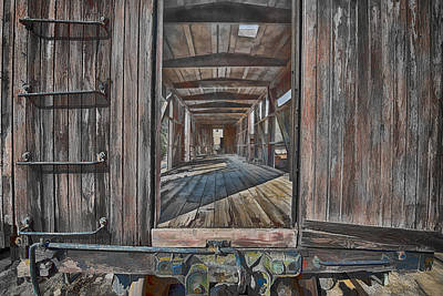 Art Print featuring the photograph Retired Train Car Jamestown by Steve Siri