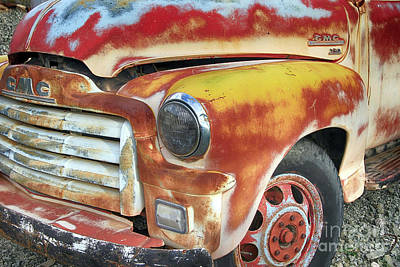 Photograph - Retired Vintage Gmc Truck by Teresa Zieba