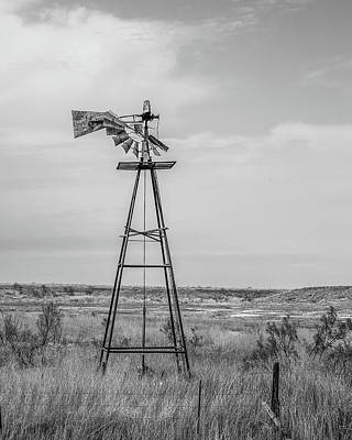 Photograph - Retired Windmill 2 by Adam Reinhart