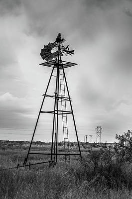Photograph - Retired Windmill 3 by Adam Reinhart