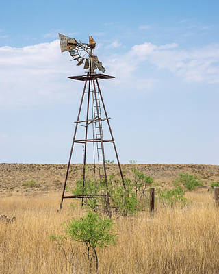 Photograph - Retired Windmill 4 by Adam Reinhart