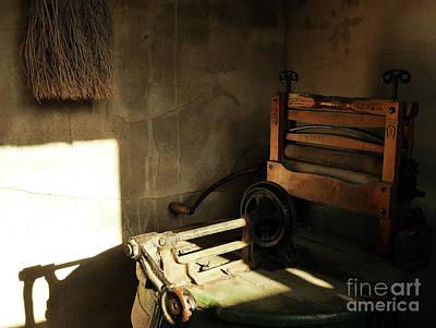 Photograph - Retired Wringer Washing Machine by Lexa Harpell
