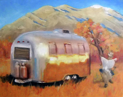 Airstream Painting - Retirement by Elizabeth Jose