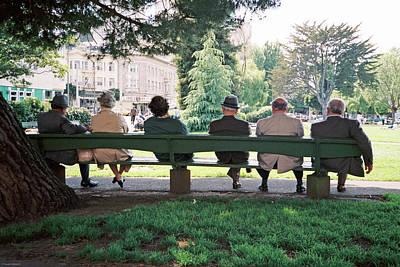 Photograph - Sweet Retirement, San Francisco, Washington Square by Frank DiMarco