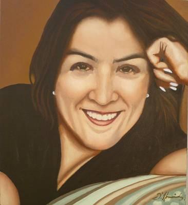 Retrato De Rocio Art Print by Fernando A Hernandez