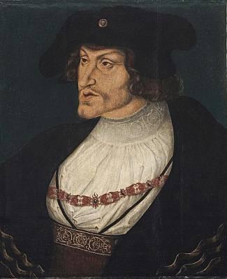 Retrato Del Emperador Carlos Art Print