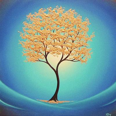 Modern Tree Painting - Retreat From Eden by Rachel Bingaman