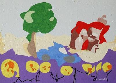 Single Line Character Art : Lunar landscape vector clip art illustration stock