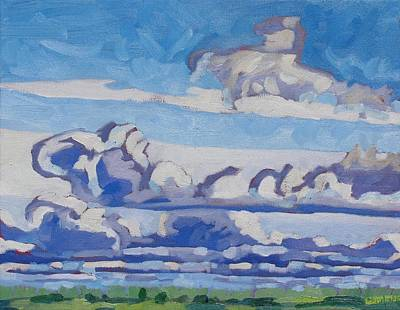 Watershed Painting - Retreating Upper Low by Phil Chadwick