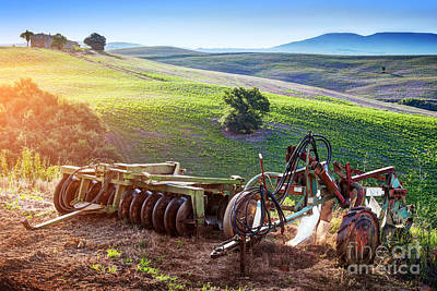 Nature Photograph - Retro Agriculture Machines. Italy by Michal Bednarek