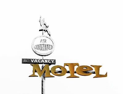 Motel Painting - Retro American Motel by Mindy Sommers