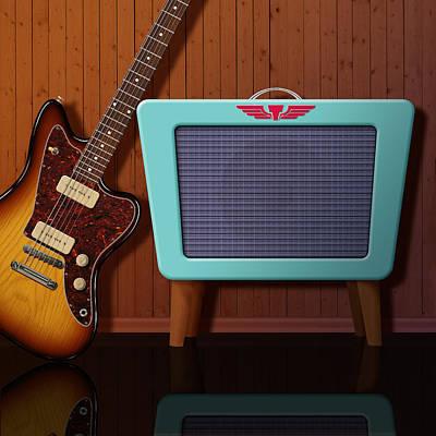 Digital Art - Retro Amplifier by WB Johnston