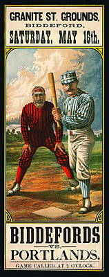 Photograph - Retro Baseball Game Ad 1885 B by Padre Art
