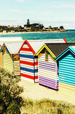 Photograph - Retro Beach Boxes by Jorgo Photography - Wall Art Gallery