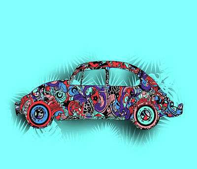 Royalty-Free and Rights-Managed Images - Retro Beetle Car 5 by Bekim M