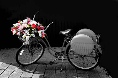 Retro Bicycle I Art Print by Art Spectrum