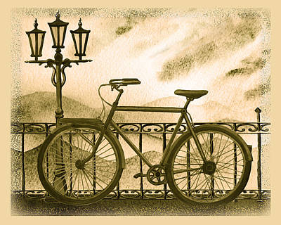 Transportation Royalty-Free and Rights-Managed Images - Retro Bicycle by Irina Sztukowski