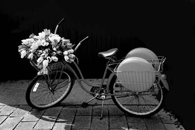 Retro Bicycle  Art Print by Art Spectrum