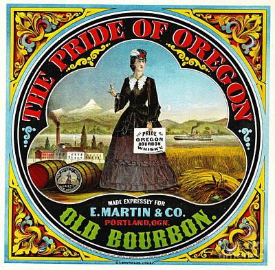 Photograph - Retro Bourbon Label 1871 by Padre Art