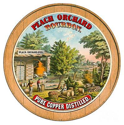Photograph - Retro Bourbon Label 1873 by Padre Art