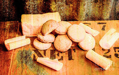 Indoor Still Life Photograph - Retro Butter Shortbread Wall Artwork by Jorgo Photography - Wall Art Gallery