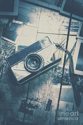 Retro Camera And Instant Photos Art Print