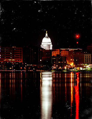 Photograph - Retro Capitol by Todd Klassy