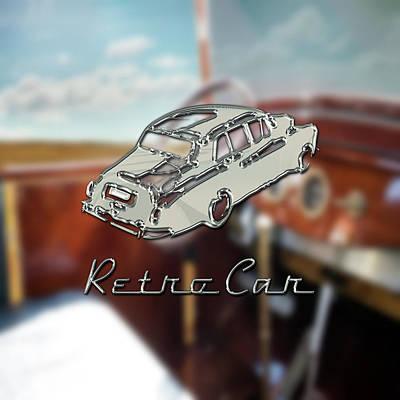 Digital Art - Retro Car by La Reve Design