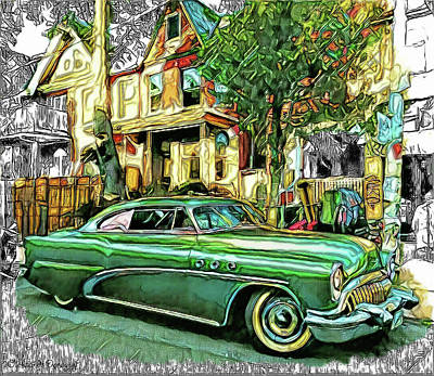 Retro Car  Art Print